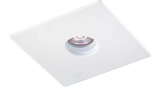 Spot Embutir Quadrado Mini Laser GU10 Branco Furo Redondo
