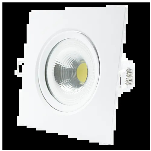 SPOT LED EMBUTIR 7W DIRECIONÁVEL 117x117MM QUADRADO BIVOLT - BRANCO FRIO 6500K