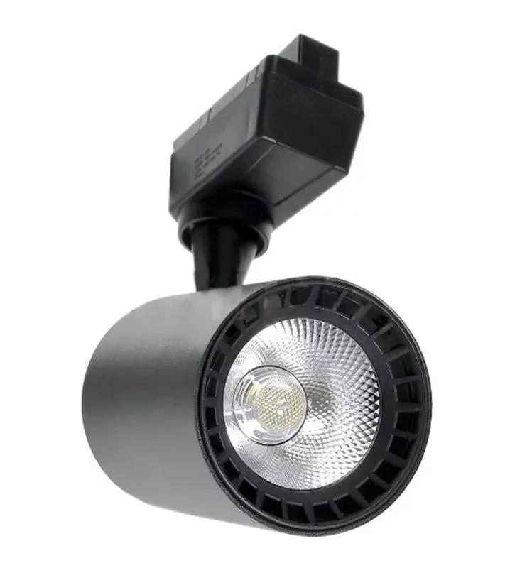 Spot LED Trilho 10W Preto Bivolt Branco Quente 3000K