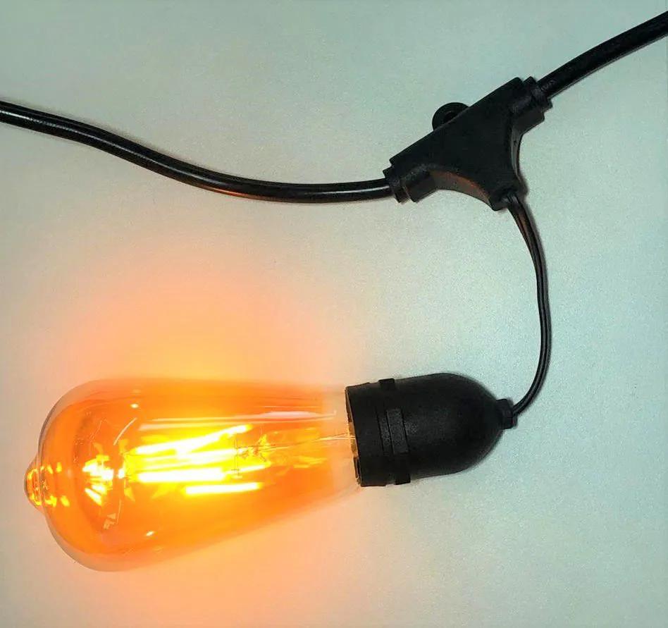Varal de lâmpadas  - 5 Metros  - 10 bocais