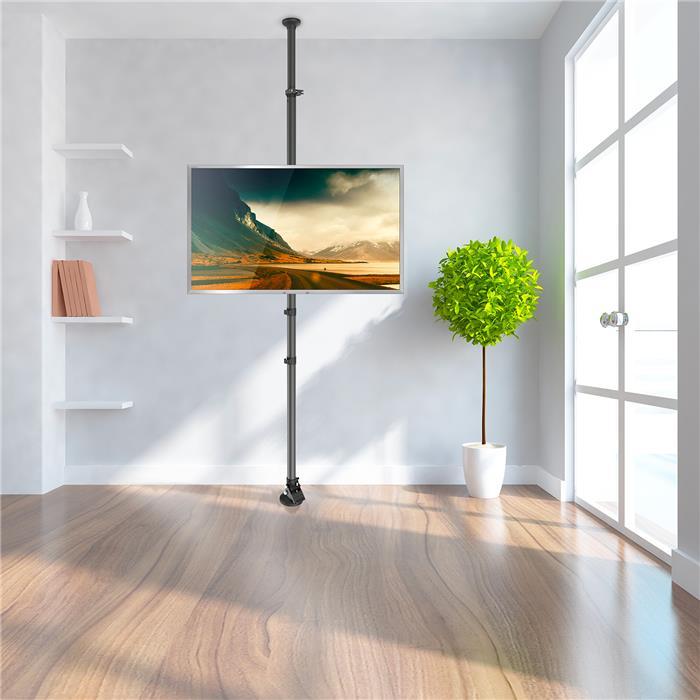 Suporte de TV Teto ao Chão / Piso para TV 3D / LED / LCD / Plasma FT-4438PL - FIXATEK