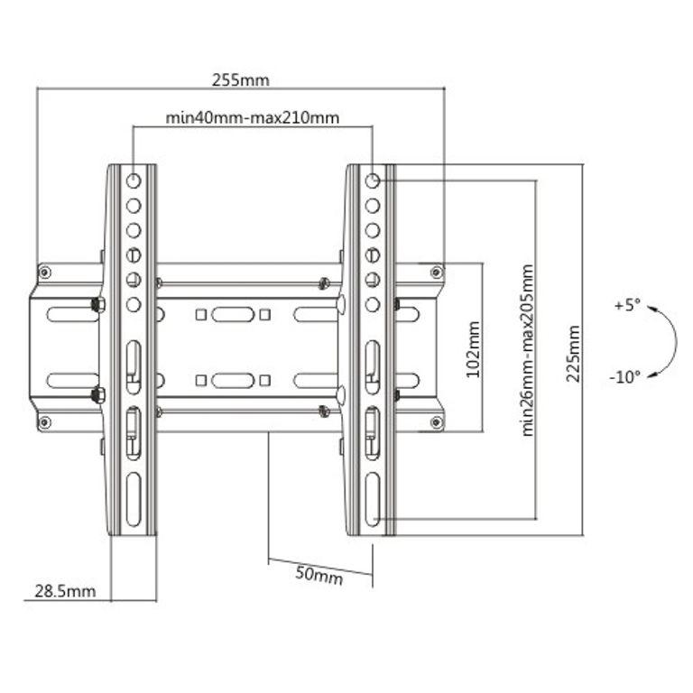 Suporte Inclinável para TV LED 23-47'' FT-22SB FIXATEK