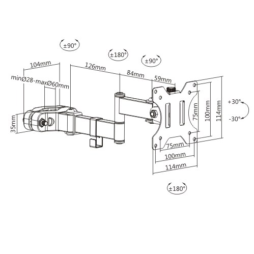Suporte Triarticulável para Tv/Monitor LED 17-32'' FT-270PL FIXATEK