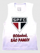 CAMISETA REGATA REVEDOR SÃO PAULO TORCIDA MENINO BRANCO