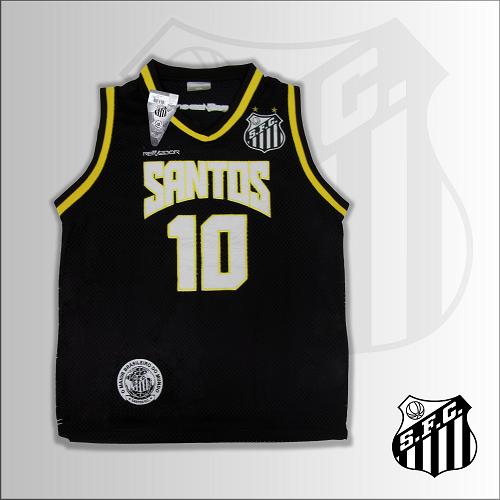 CAMISETA REGATA SANTOS FC BASQUETE PRETA