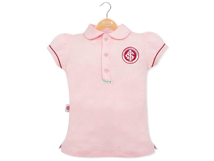 Polo Internacional Reve D Or Feminina Rosa Bebe