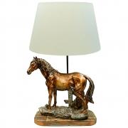 Abajur Cavalo Bronze Importado em Resina