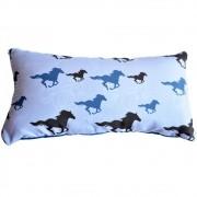Almofada Cowboys Azul e Cinza Cavalos