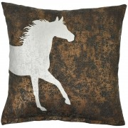 Almofada Cowboys Bronze Chevron e Cavalo Prateado