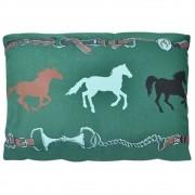 Almofada Cowboys Verde Rédeas e Cavalos Retangular
