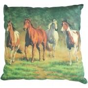 Almofada Importada Cavalos No Campo