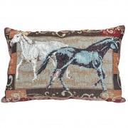 Almofada Tecido Golden Cavalos