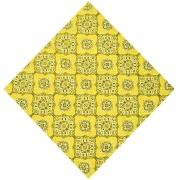 Bandana Cowboys Mandala Floral Amarela
