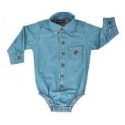 Body Camisa Infantil Cowboys Jeans Claro