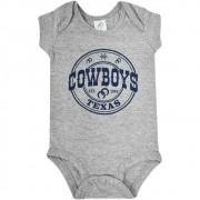 Body Infantil Pai e Filho Cinza Cowboys Texas 1993 Azul