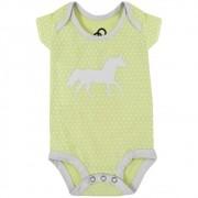 Body Infantil Cowboys Amarelo Cavalo e Bolinhas Brancas