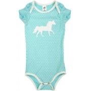 Body Infantil Cowboys Azul Cavalinho e Poá Branco