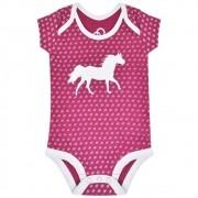 Body Infantil Cowboys Pink Cavalinho e Ferraduras Brancas
