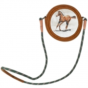 Bolsa Cowboys em Couro Lisa Marrom com Alça de Corda