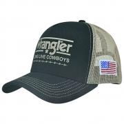Boné Wrangler 20x Long Live Cowboys Preto com Tela