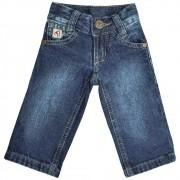 Calça Cowboys Bebê Jeans Lavado