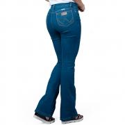 Calça Feminina Wrangler Jeans Urbano Flare Lycra Cintura Alta