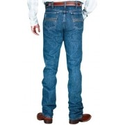 Calça Jeans Cinch Silver Label Slim Fit Azul Stonada