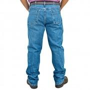 Calça Jeans Cowboys Alabama Cintura Média Corte Reto Estonada