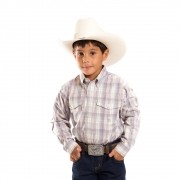Camisa Manga Longa Infantil Xadrez Verde Claro Roper