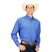 Camisa Masculina Xadrez Azul Design Exclusivo Ariat