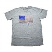 Camiseta Cowboys Cinza Bandeira USA