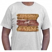 Camiseta Cowboys Cinza Life is Bether on the Farm