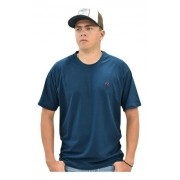 Camiseta Cowboys Gola Careca Lisa Azul