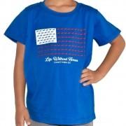 Camiseta Infantil Cowboys Azul Bandeira USA