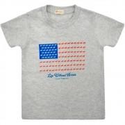 Camiseta Infantil Cowboys Cinza Bandeira USA