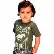 Blusinha Infantil Farm Girl Verde Amor A Primeira Vista