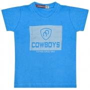 Camiseta Infantil Pai e Filho Azul Cowboys Established 1993