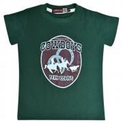 Camiseta Infantil Pai e Filho Verde Cowboys Team Roping