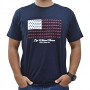 Camiseta Masculina Pai e Filho Cowboys Azul Marinho Bandeira USA