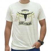 Camiseta Masculina Pai e Filho Bege Mescla Cowboys Ride The Brand