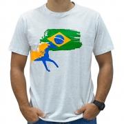 Camiseta Masculina Pai, Mãe e Filho Cowboys Cinza Mescla Pátria Amada