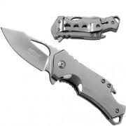 Canivete Importado Ballistic Lâmina Lisa Metalizado
