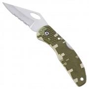 Canivete Maxam Importado Camuflagem Inox com Presilha de Bolso