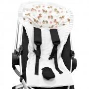 Capa para Carrinho e Bebê Conforto Cavalinhos e Flores