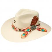 Chapéu Feminino de Feltro Resistol Natural Navajo Charlie 1 Horse