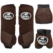 Conjunto Ventrix Boots Horse Caneleira e Cloche Marrom