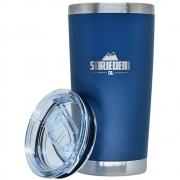 Copo Térmico Inox Pressurizado Soriedem Azul Marinho 590 ml