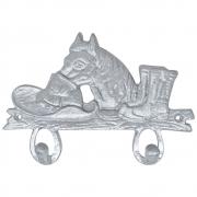 Gancho de Metal Duplo Importado Chapéu, Cavalo e Bota Prateado
