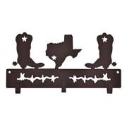 Gancho de Metal Importado Marrom Triplo Botas no Texas