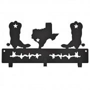 Gancho de Metal Importado Preto Triplo Botas no Texas